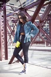 chicityfashion,shirt,pants,coat,sunglasses,shoes,bag,jewels