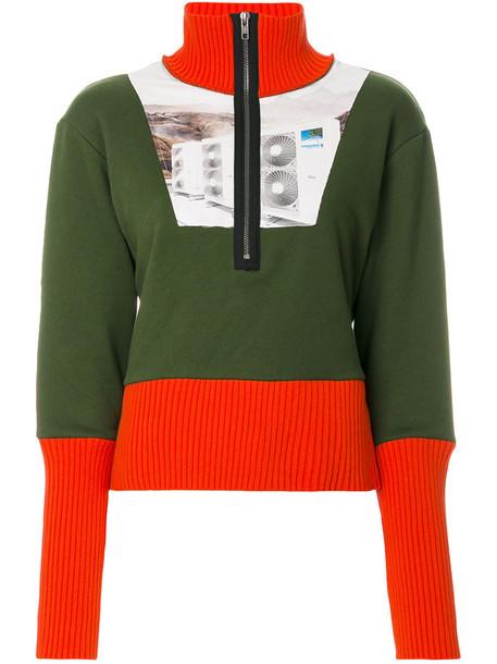 jumper women cotton green sweater