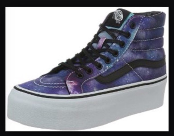 dfdf94502ed2 shoes vans high tops galaxy shoes