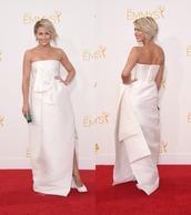 dress,white dress,julianne hough,shoes,emmys 2014