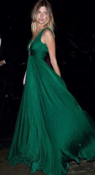 ecb568a3dc8c27 dress green gala maxi dress party