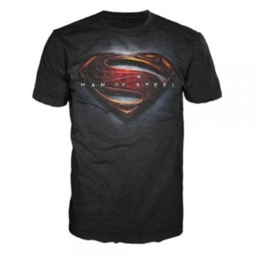 Dc comics superman man of steel logo men's t