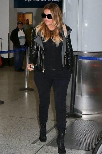 pants sweatpants khloe kardashian