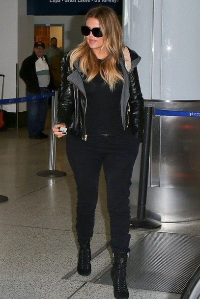 pants sweatpants khloe kardashian