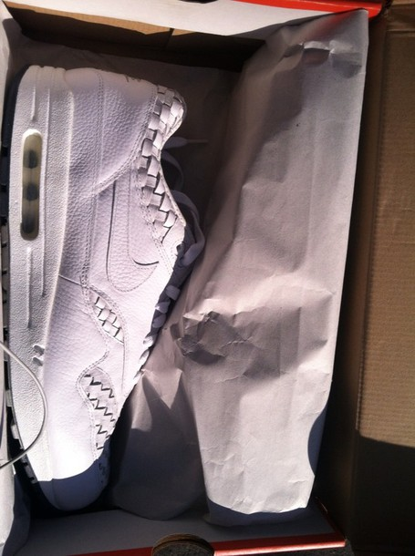 shoes white nike running shoes nike shoes air max nike air max 1 deadstock woven