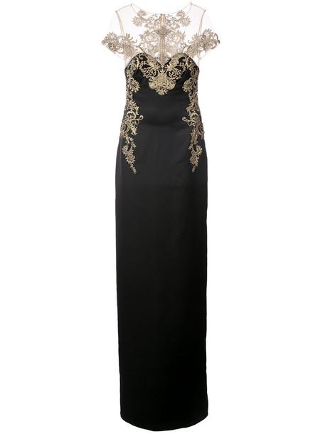 Marchesa Notte dress long dress long women spandex lace black