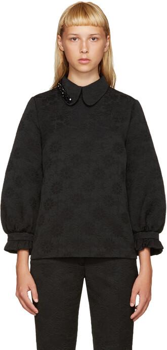blouse beaded black top