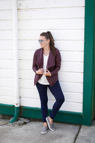 covering bases blogger slip on shoes oxblood waterfall jacket