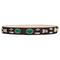Crystal embellished suede belt