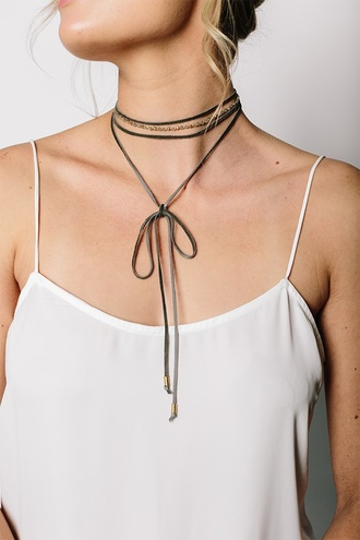 jewels tess and tricia necklace choker necklace leather choker wrapped necklace beaded beaded necklace