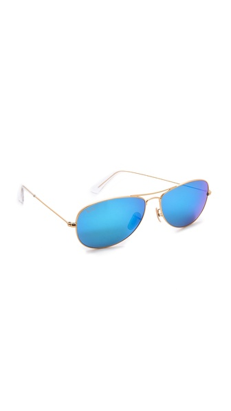 Ray-Ban Mirrored Shrunken Aviator Sunglasses | SHOPBOP