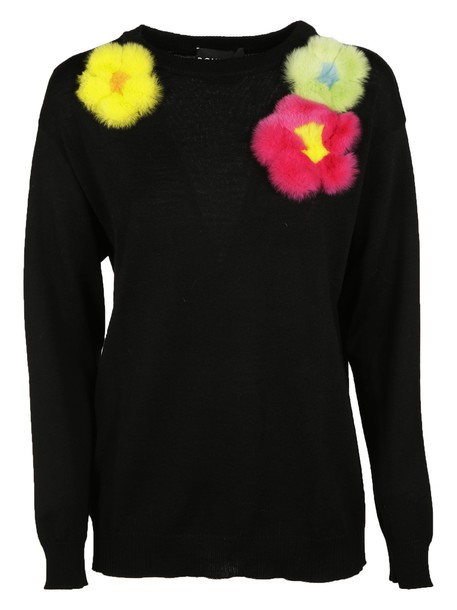 Moschino sweater floral black