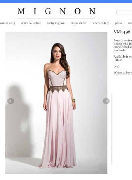 dress mignon vintage blush prom dress