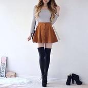 skirt,camel,leather skirt