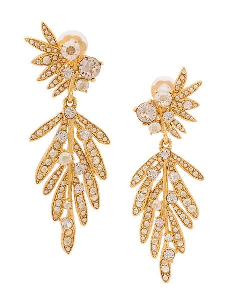 oscar de la renta tropical women earrings yellow orange jewels