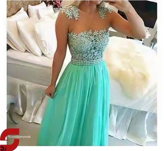 dress mint-green dress prom dress sparkly dress