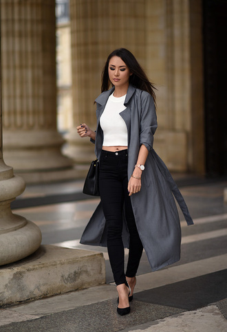 hapa time blogger jeans coat top