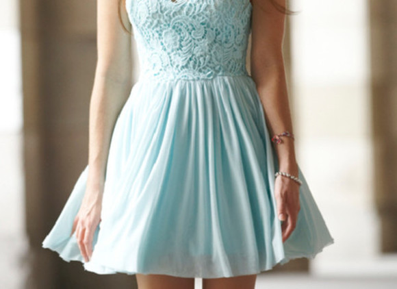 dress mini dress blue lace