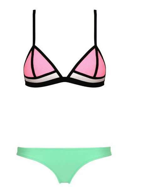 4721c50b95 Aliexpress.com   Buy HOT!2015 triangl neoprene bikini sexy padded bikini  brazilian women s swimsuit push up ...