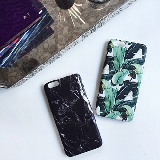 phone cover plants hipster marble