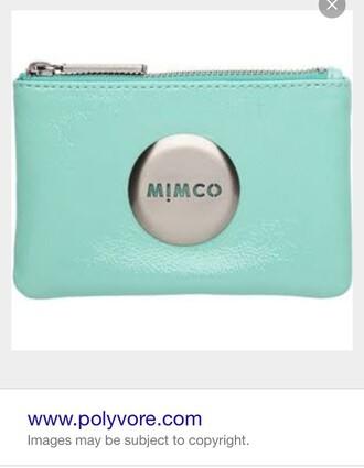 bag aqua purse