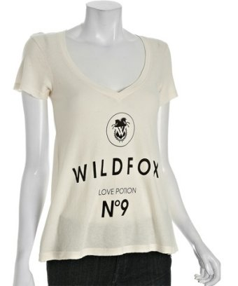 Wildfox couture ivory jersey 'love potion no. 9' v
