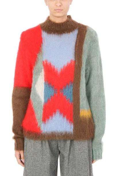 Chloe jumper mohair wool multicolor sweater
