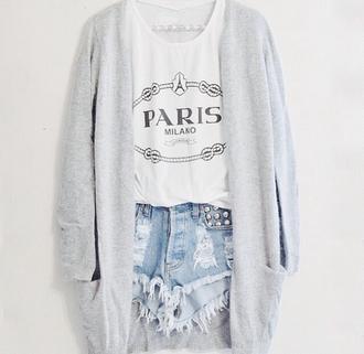 tank top paris milano black white shirt whites black  paris shirt sweater white strappy top grey wool sweater shorts t-shirt jacket cardigan long cardigan top prada