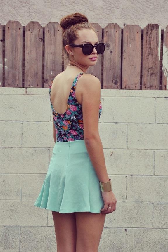 Luna Vintage — Skater Skirt-Mint