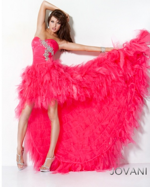 Strapless High - Low Prom Dress 171731
