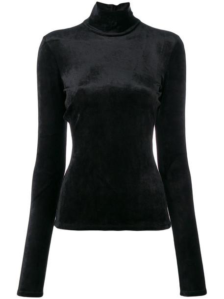 theory sweatshirt women spandex black sweater