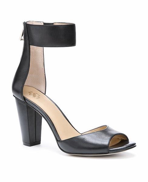 Sadie Leather Stacked Heel Sandals