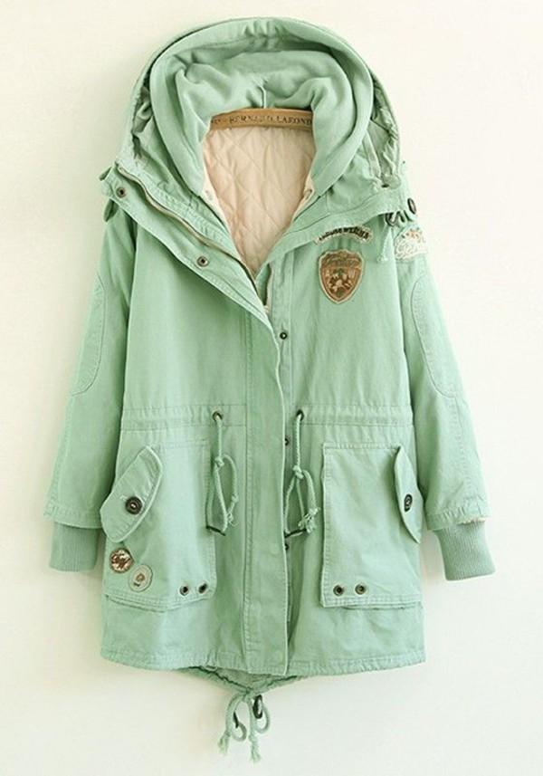 Coat Mint Jacket Mint Coat Coat Parka Parka Parka