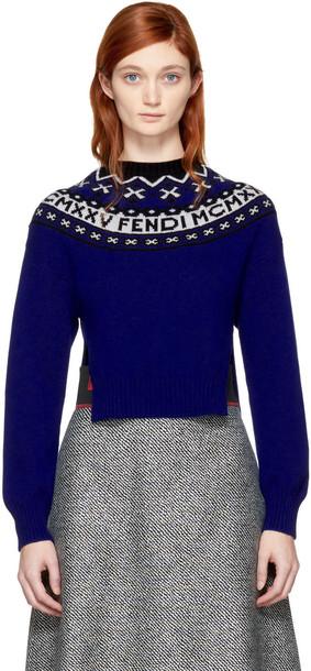 Fendi sweater high blue