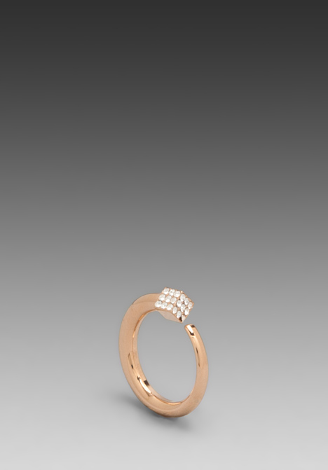 VITA FEDE Ultra Eclipse Crystal Midi Ring in Rosegold/Clear at Revolve Clothing - Free Shipping!