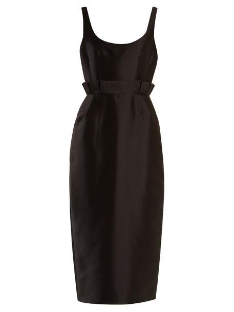 Gabriela Hearst dress silk wool black
