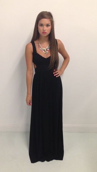 dress maxi dress long dress little black dress