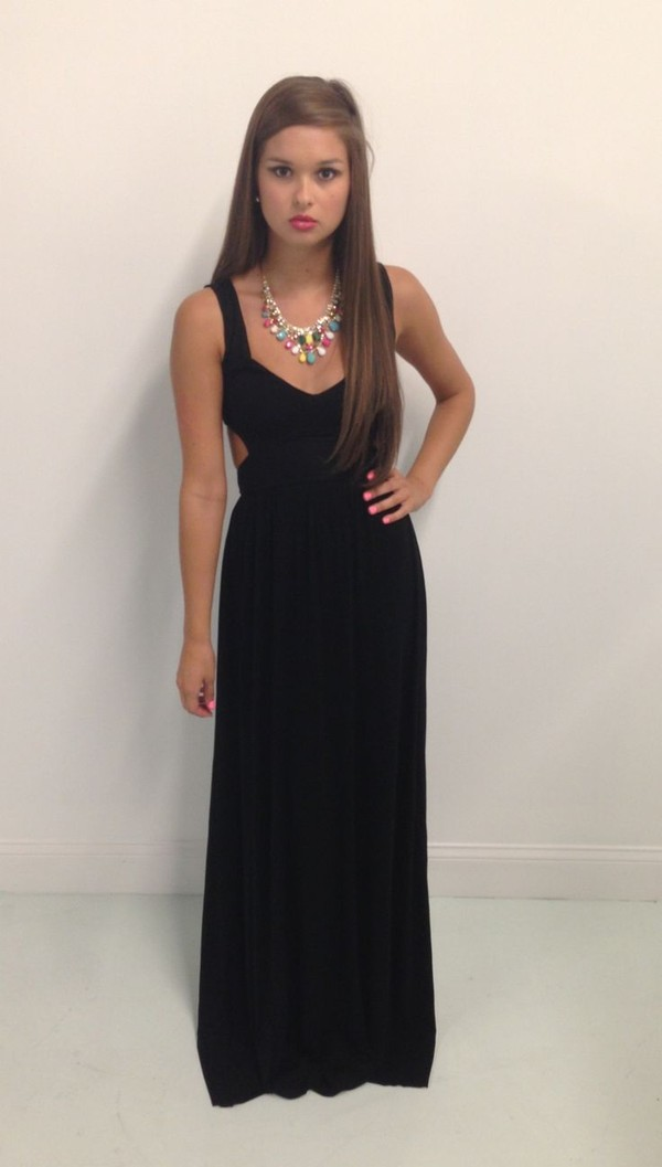 dress long dress maxi dress black dress
