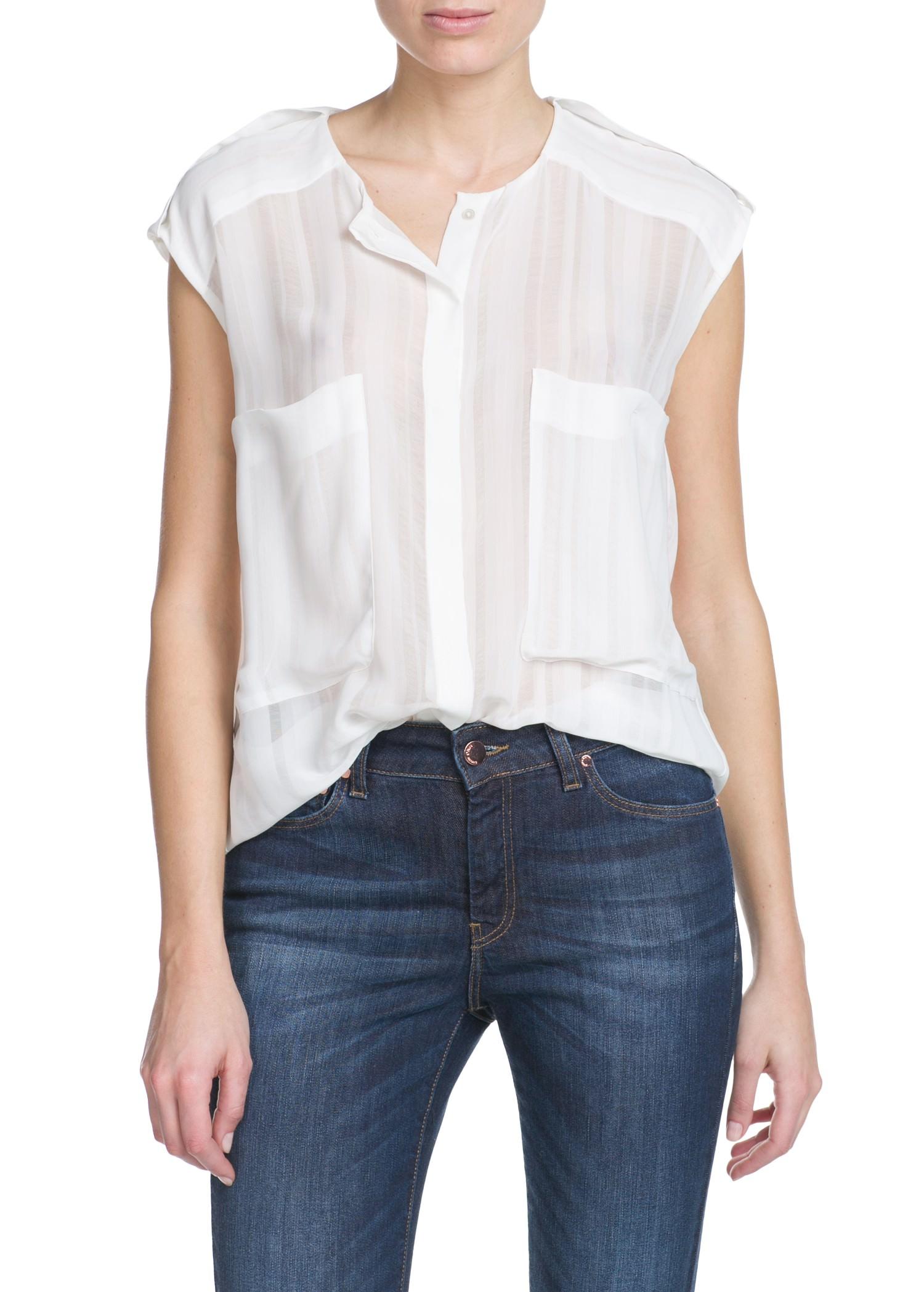 Two-pocket blouse - Women | MANGO