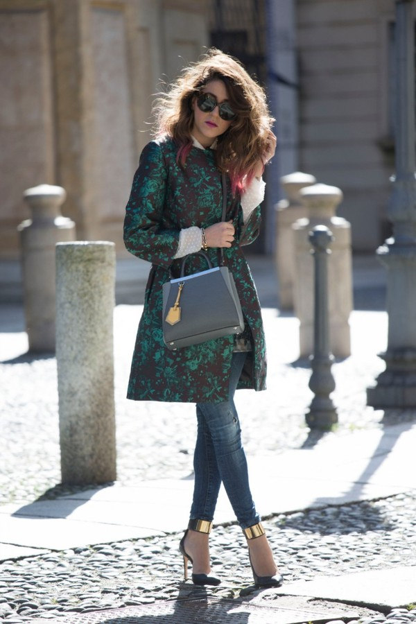 scent of obsession coat jeans bag jewels shoes