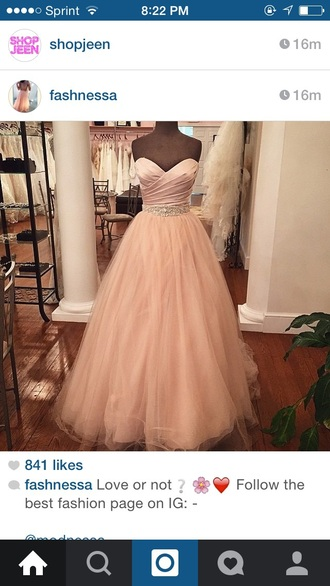 dress instagram dress prom dress ball gown pretty pink dress
