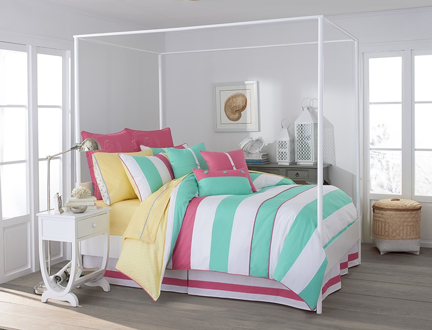 Cabana Stripe Comforter | The Skipjack Collection | Home Collection | Southern Tide