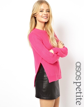 ASOS Petite | ASOS PETITE Chunky Sweater With Side Split Detail at ASOS
