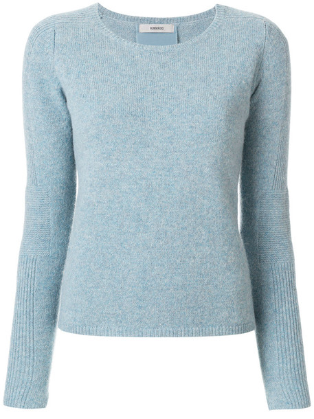 jumper women blue silk sweater