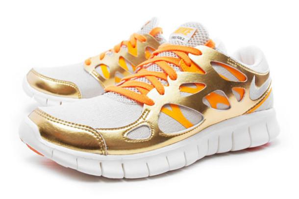 best service 17078 7f5c2 shoes nike shoes women sneakers nike free run 2 orange