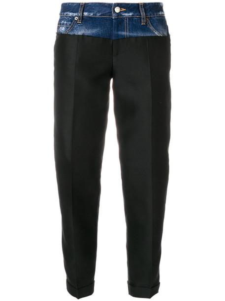 Dsquared2 denim women cotton black silk wool pants