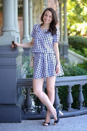 skirt gingham gingham skirt gingham top t-shirt top matching skirt and top girly