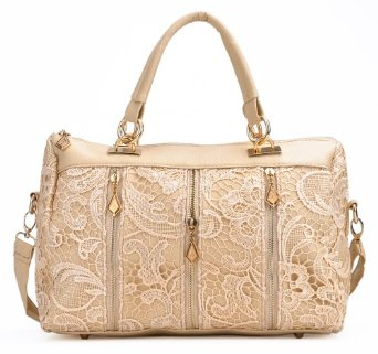 Amazon.com: Moonar Lace Zipper Decoration Retro Handbags Shoulder Bags (Beige): Shoes