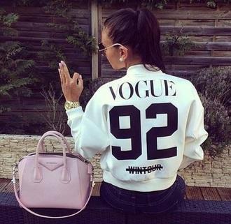 jacket vouge fashion white shirt