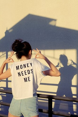 t-shirt money needs me funny quote on it top white shirt white t-shirt white tee tees money needs me tee money needs me t-shirt graphic tee white crop tops shorts money style black money need me loose shirt loose t-shirt oversized needs me boxy amazing
